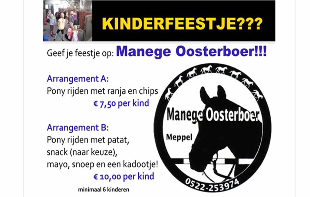 Verjaardagsfeestje geven bij Manege Oosterboer